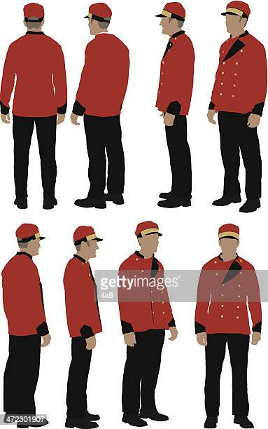 personel valet - looking at camera stock illustrations