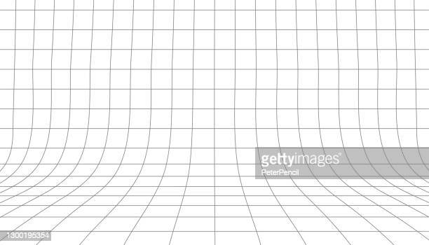perspective 3d grid. screen graph paper sheet. texture template. vector illustration - point of view stock illustrations