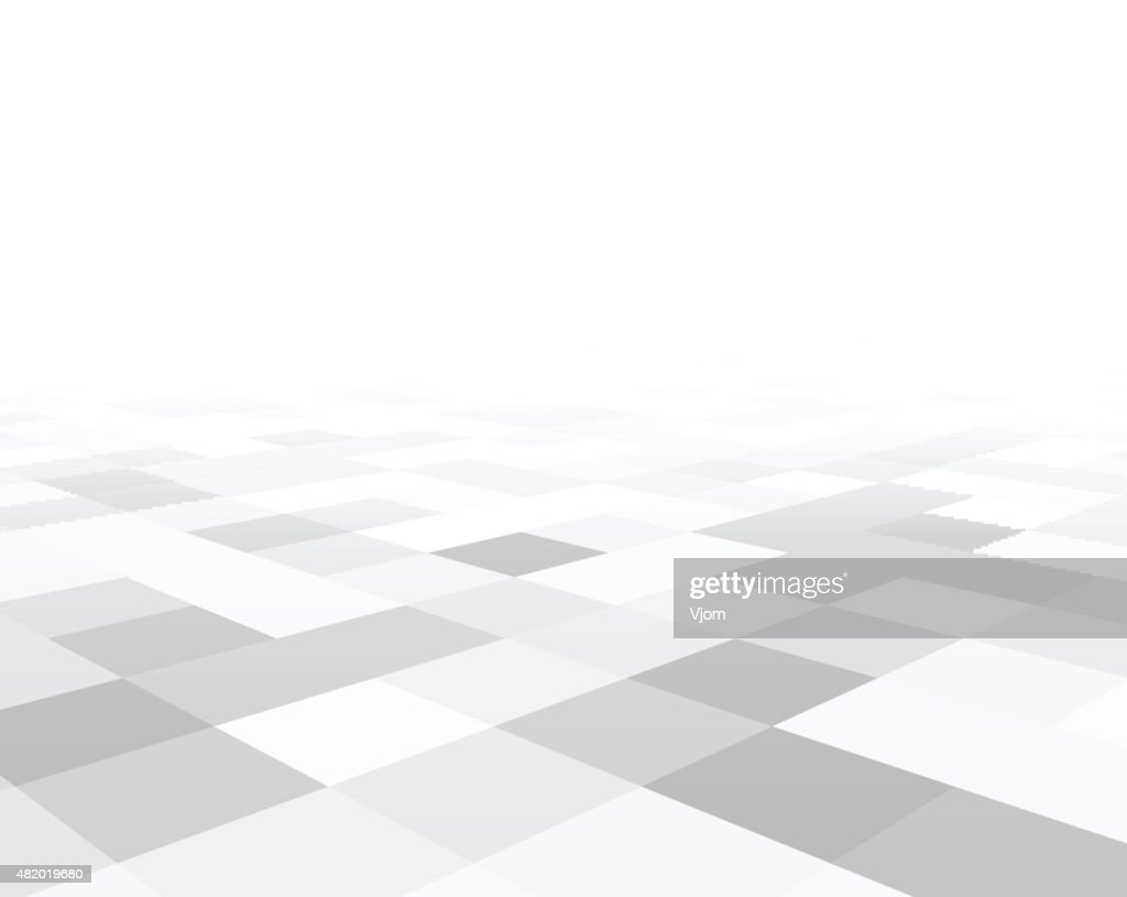 Perspective checkered surface