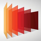 Perspective colorful abstract rectangles on white background