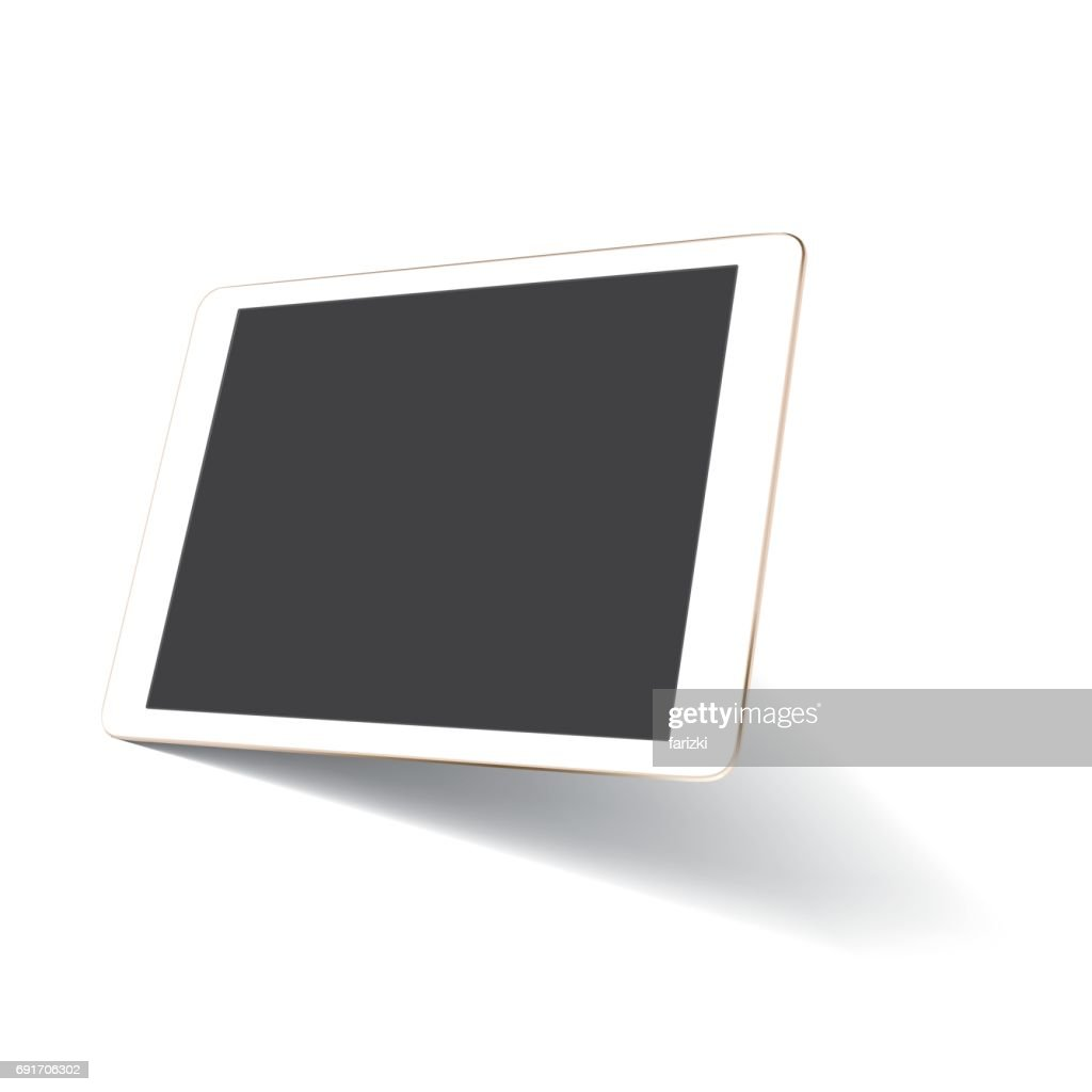 Perspective tablet mockup