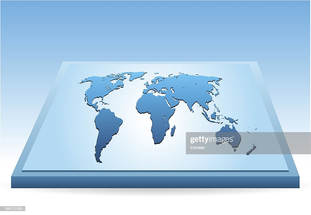 Perspective world map vector art getty images perspective world map vector art gumiabroncs Choice Image