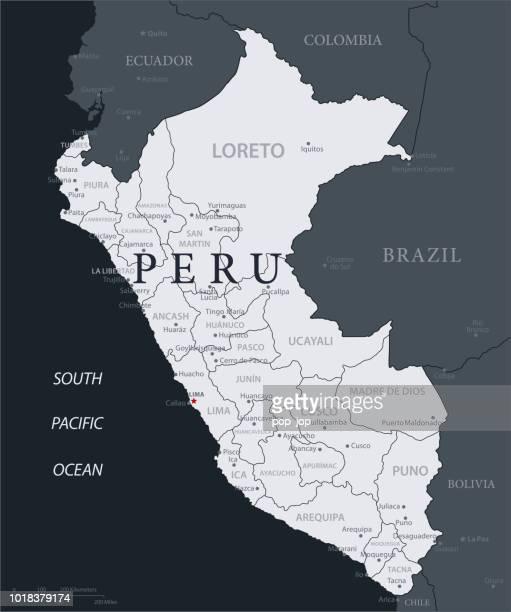 19-ペルー - 黒グレー 10 - ペルー点のイラスト素材/クリップアート素材/マンガ素材/アイコン素材