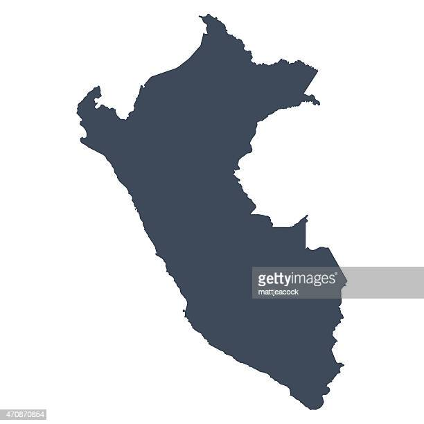peru country map - peru stock illustrations