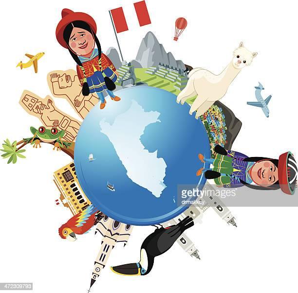 peru travel - bezirk cuzco stock-grafiken, -clipart, -cartoons und -symbole
