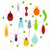 Pest coloured circled set