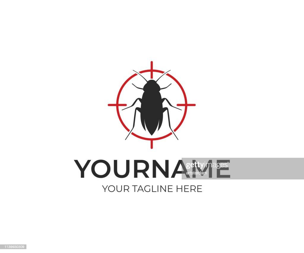Pest control design. Insect vector design. Bug illustration