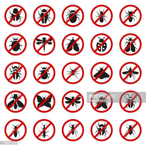 pest control icon set - pests stock illustrations