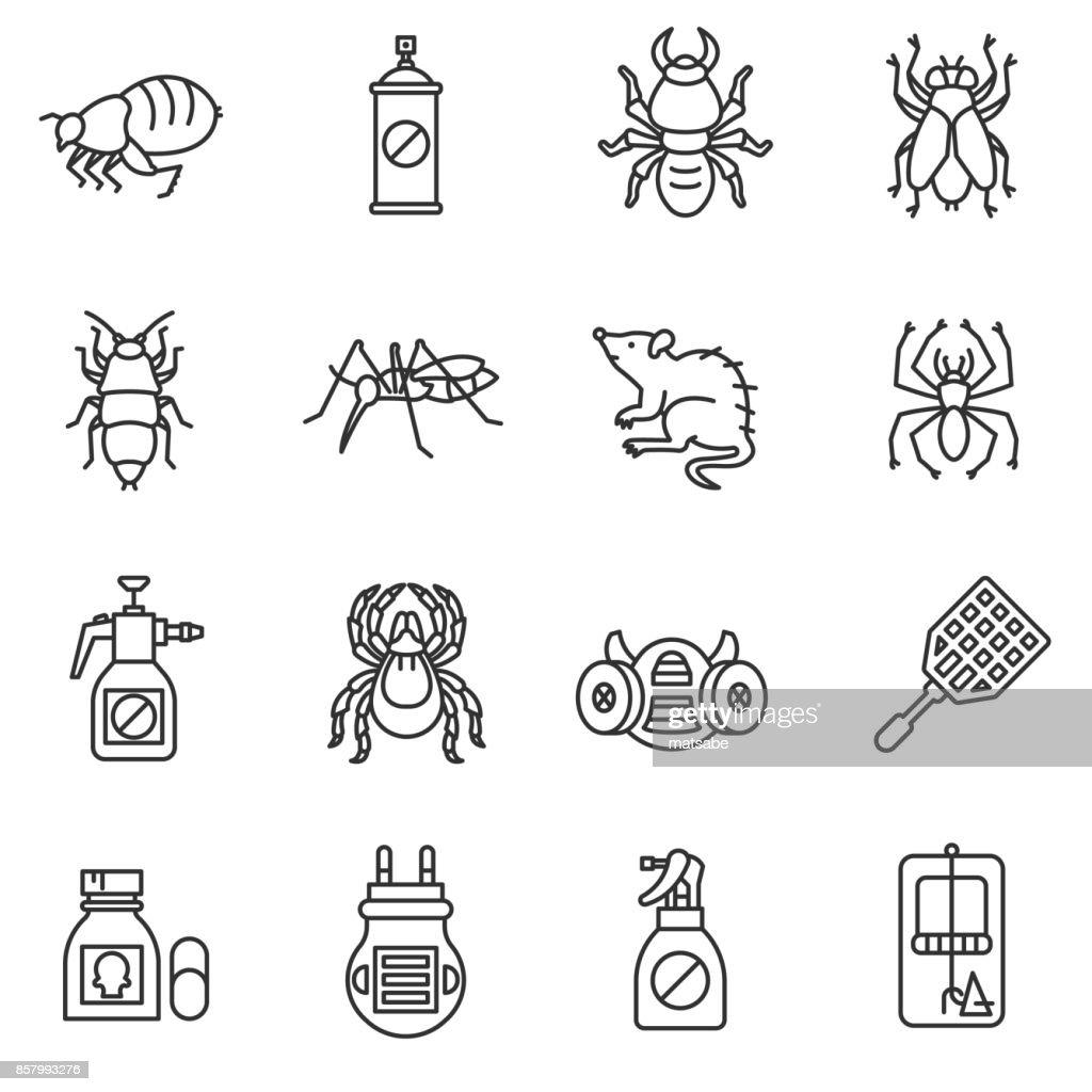 pest control icon set.
