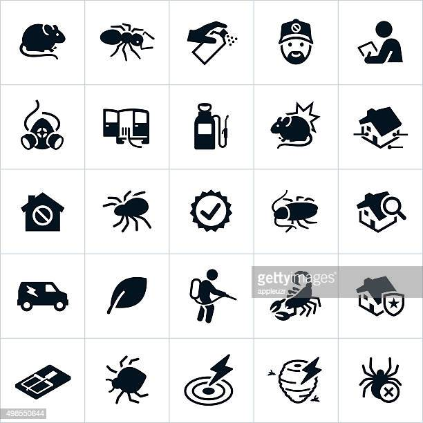 pest control icons - poisonous stock illustrations
