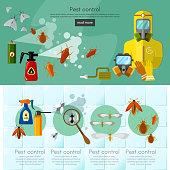 Pest control services infographics