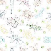 Pest line seamless pattern