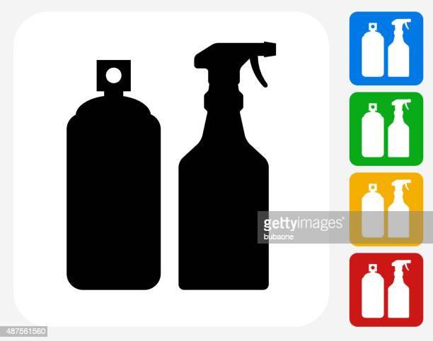 Pesticide Sprays Icon Flat Graphic Design