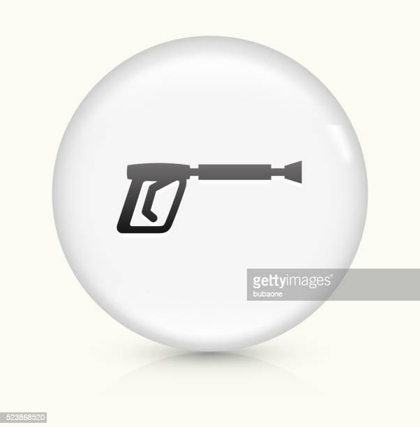 Pesticide Sprays icon on white round vector button