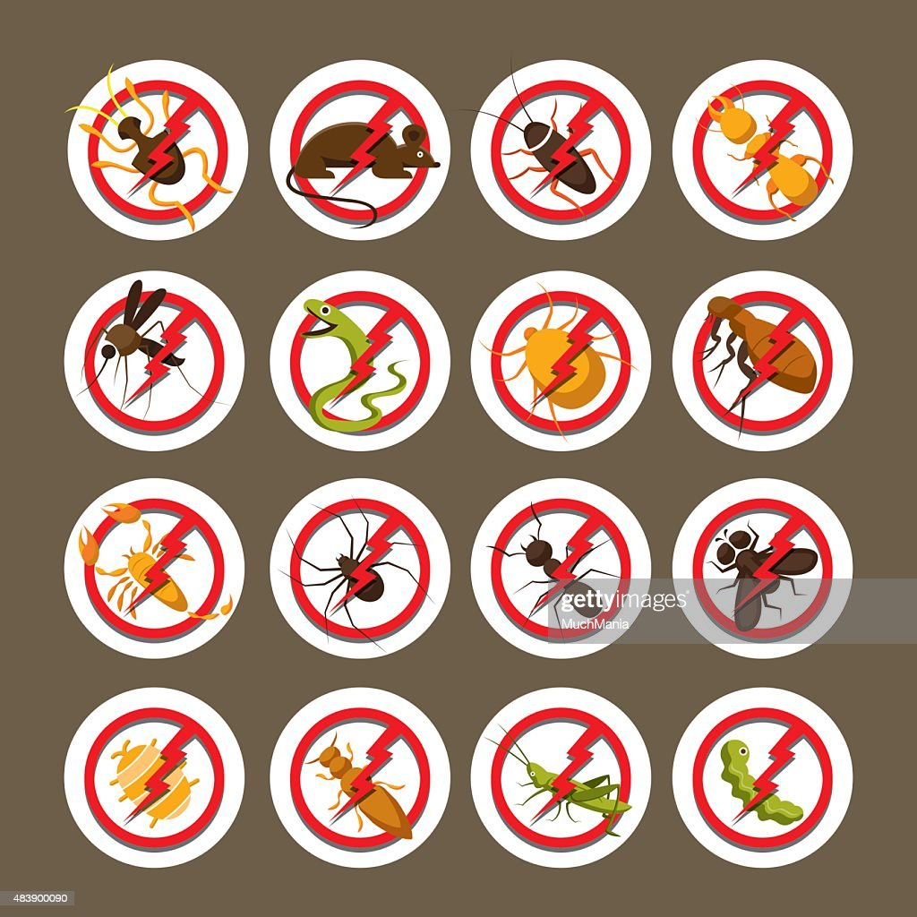 Pests, Insects, Bugs, Prohibition and Repellent Signs
