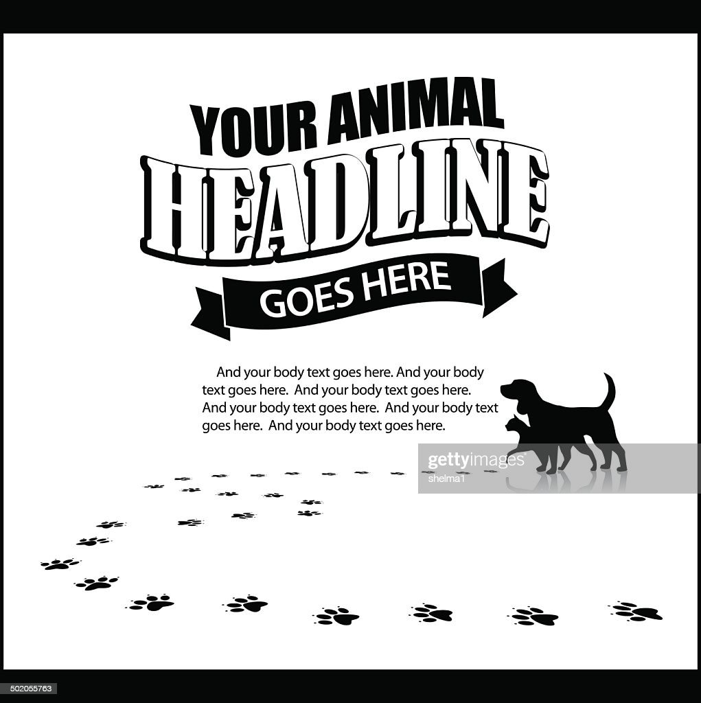 Pet advertising background template