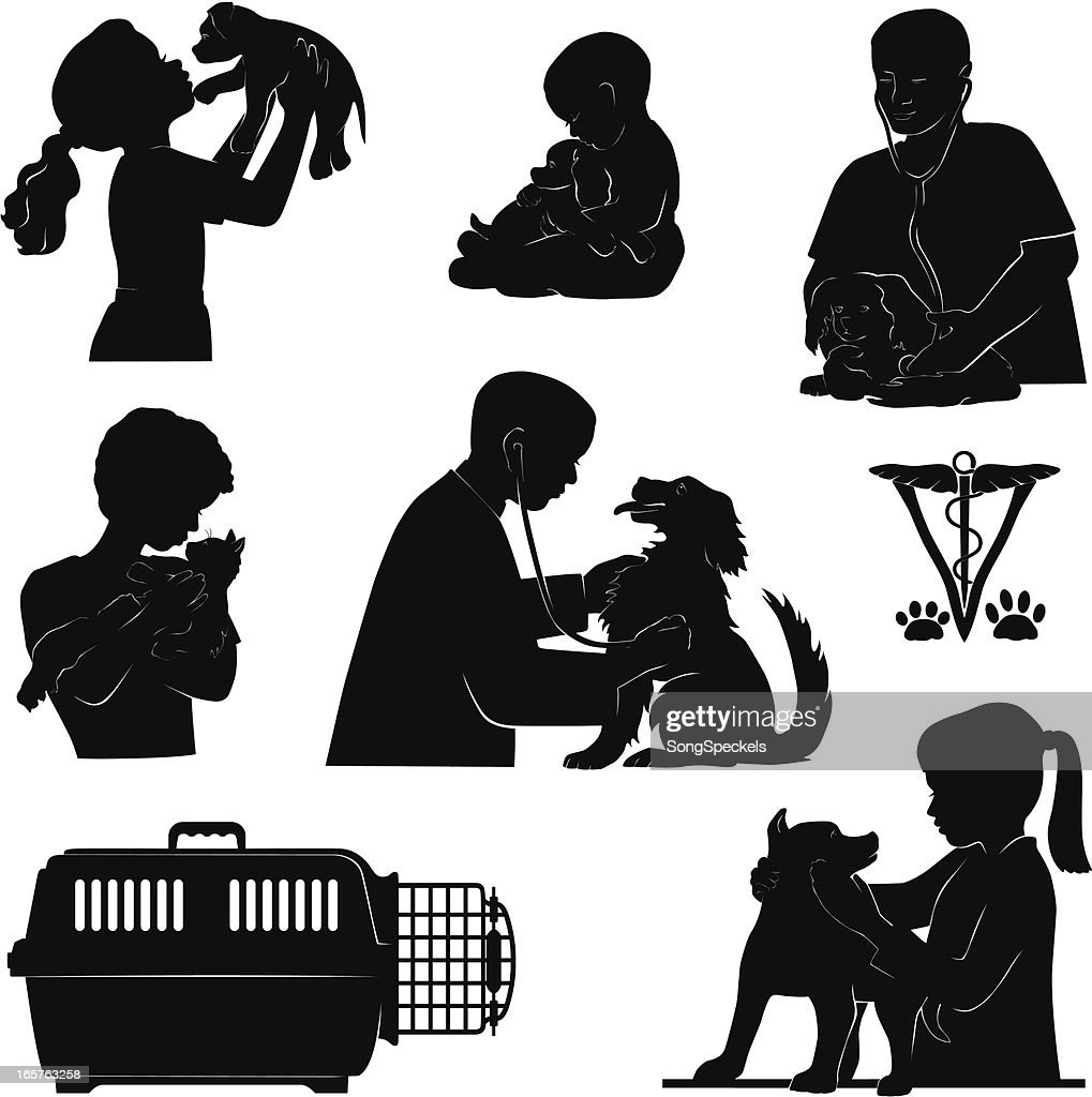 Pet and Vet silhouettes