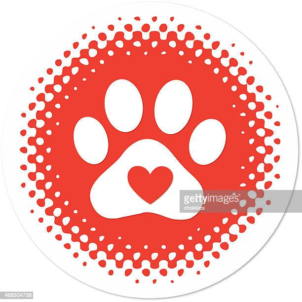 pet care and love - animal heart stock illustrations, clip art, cartoons, & icons