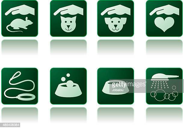pet care icons - cat food stock illustrations