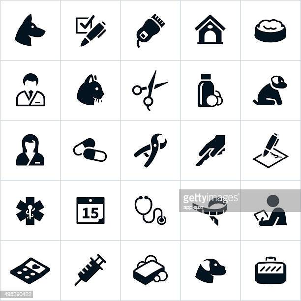 pet care icons - pet equipment stock illustrations, clip art, cartoons, & icons