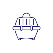 Pet carrier line icon