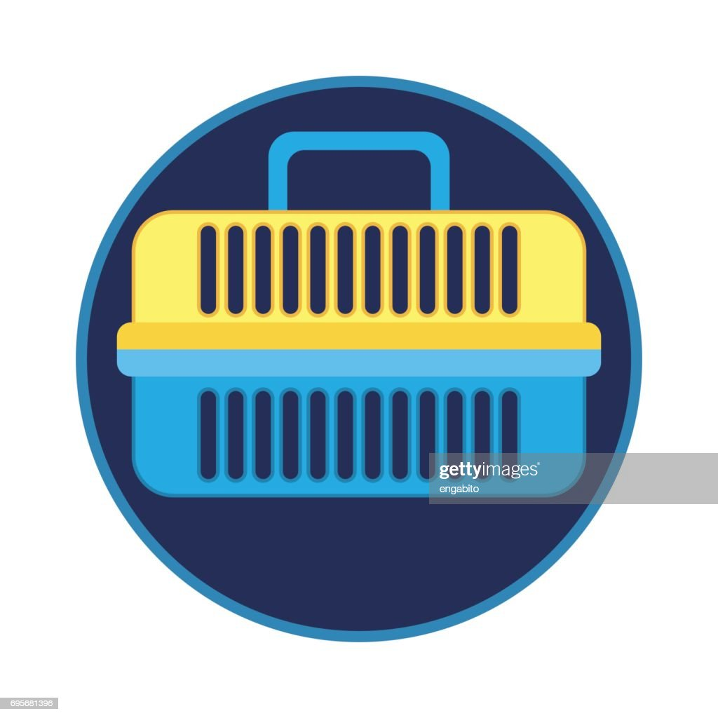 pet carrier / pet toys accessories. vector illustration