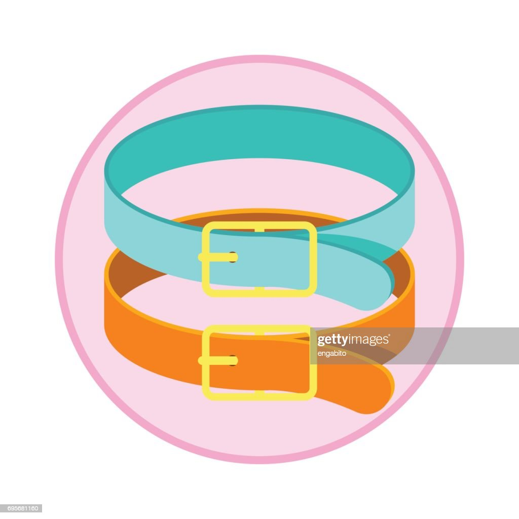 pet collars / pet toys accessories. vector illustration