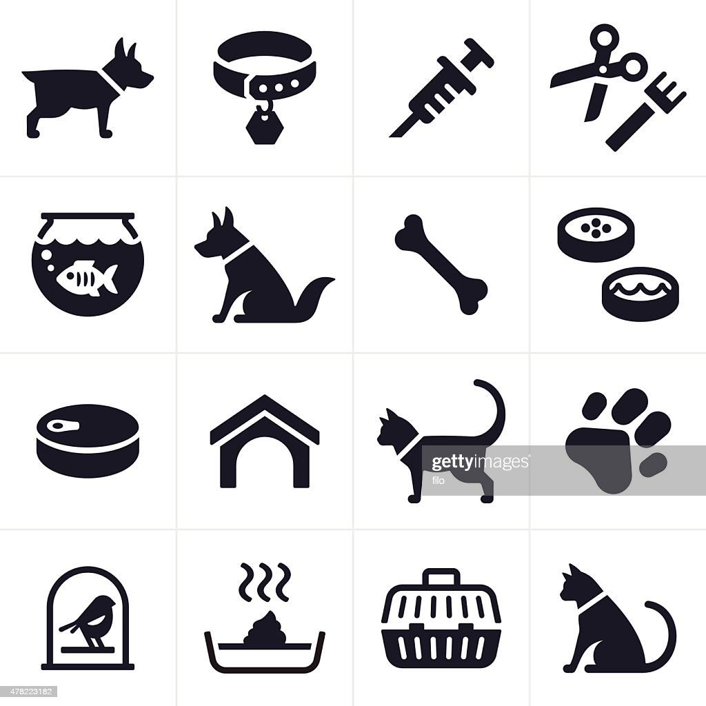 Pet Dog and Cat Icons and Symbols