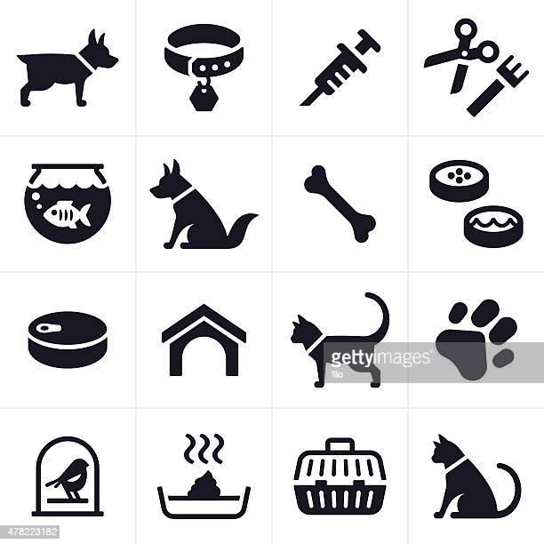 ペットの犬や猫のアイコンと記号