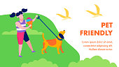 Pet Friendly Landing Page in Flat Natural Style