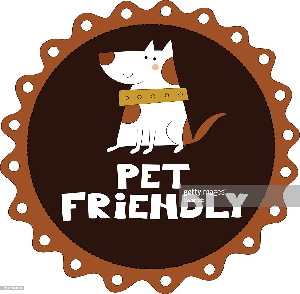 Pet friendly vector illustration
