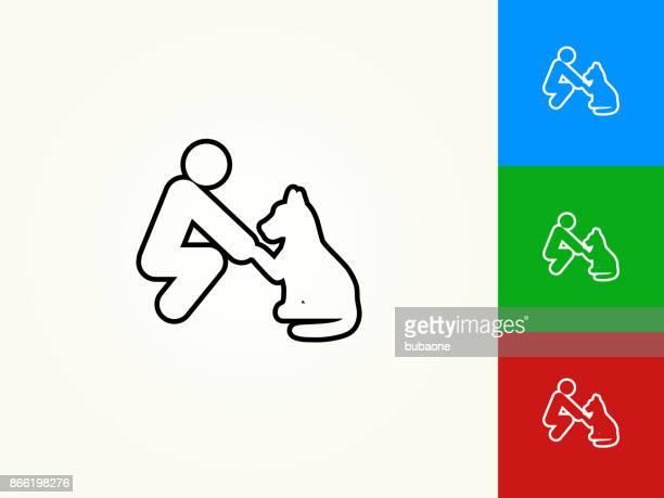 Pet Friendship Black Stroke Linear Icon