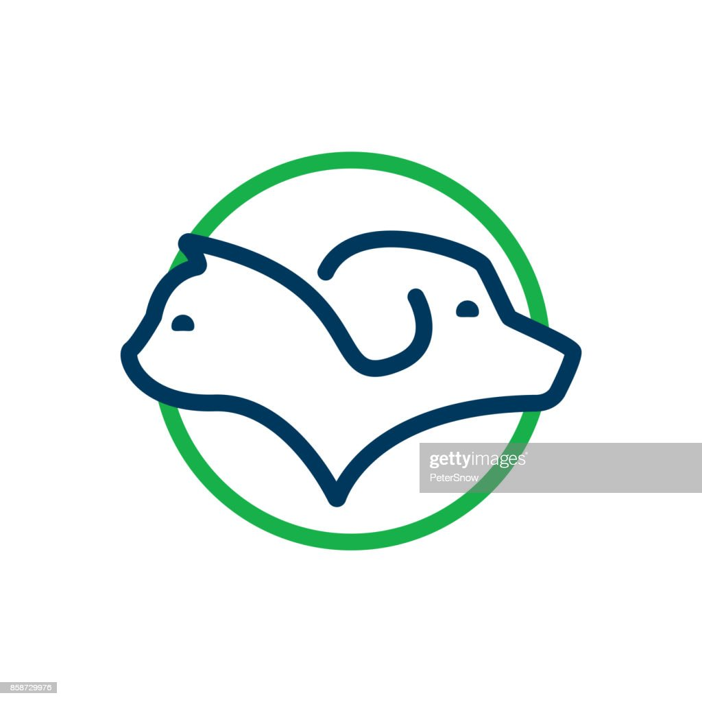 Pet icon. Vector design of cat and dog profile for domestic animals related business