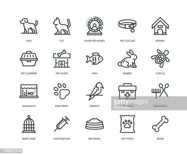 pet icons - line series - dog stock illustrations