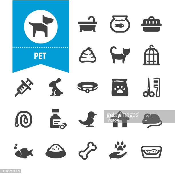 pet icons - special series - dog bowl stock illustrations, clip art, cartoons, & icons