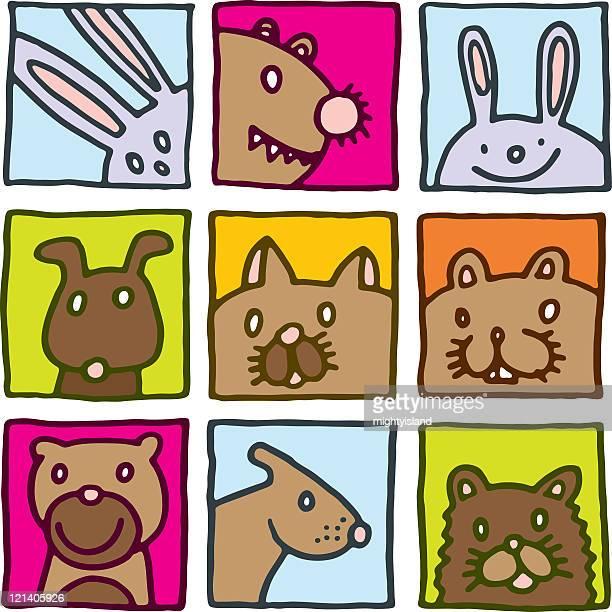 pet icons - gerbil stock illustrations