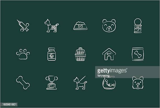pet icons - dog bowl stock illustrations, clip art, cartoons, & icons