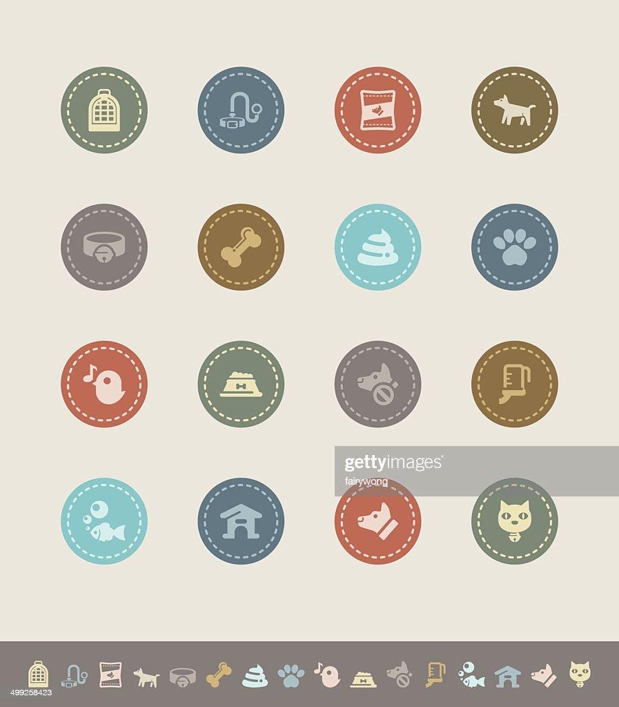 pet icons : stock illustration