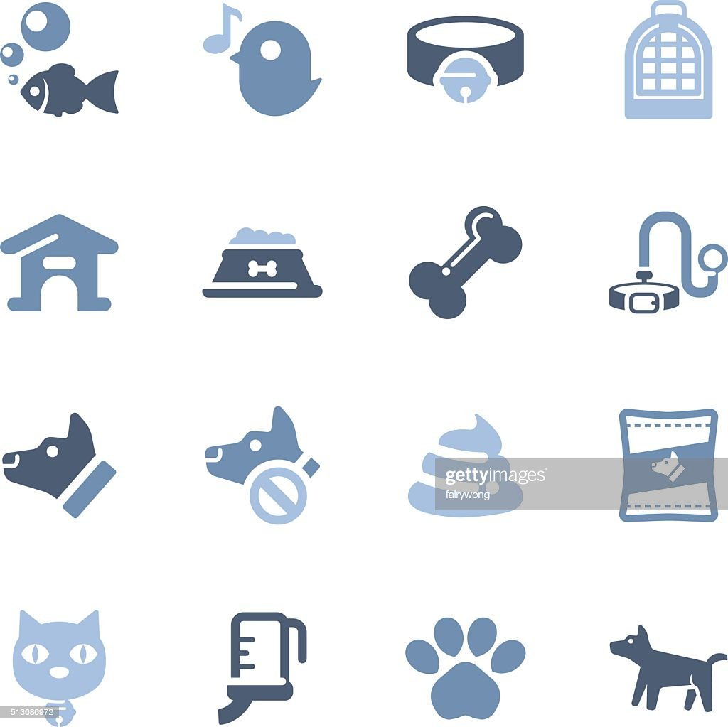 pet icons : stock illustration