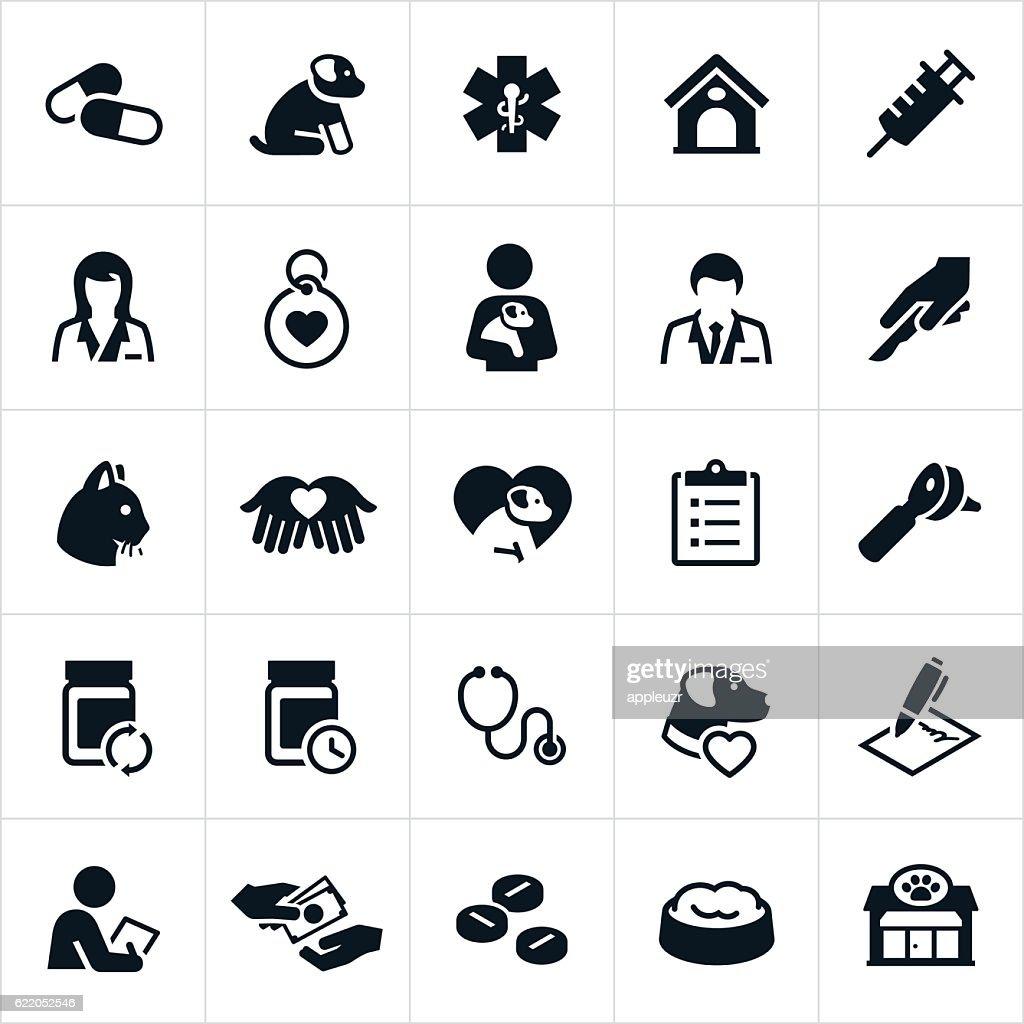Pet Insurance Icons : stock illustration