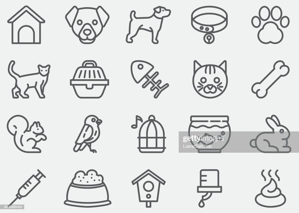 Pet Line Icons : stock illustration