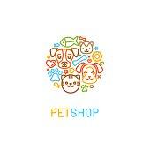 Pet logo design elements