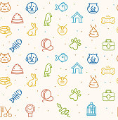 Pet Seamless Pattern. Vector