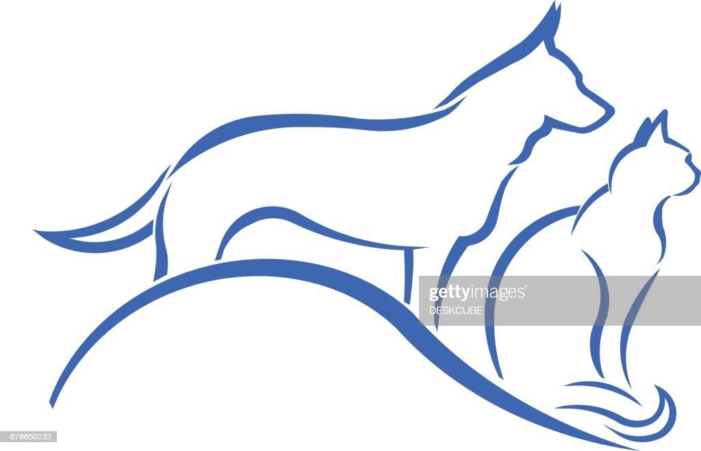 Pet Shop Dog and Cat Logo