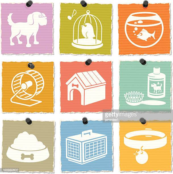 pet shop icons - fishbowl stock illustrations, clip art, cartoons, & icons