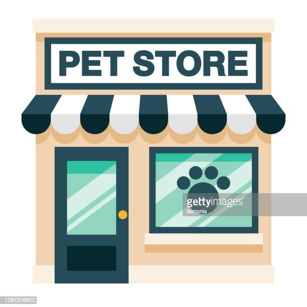 pet shop on transparent background - store sign stock illustrations