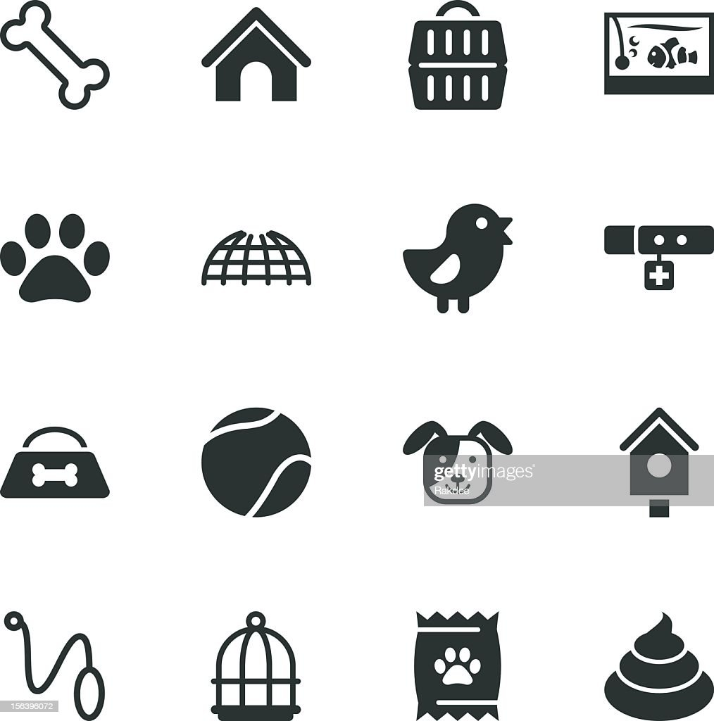 Pet Silhouette Icons : Vector Art