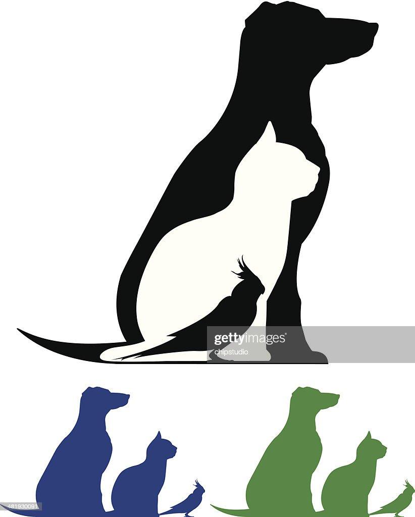 Silhueta de animais de estimação : Ilustração