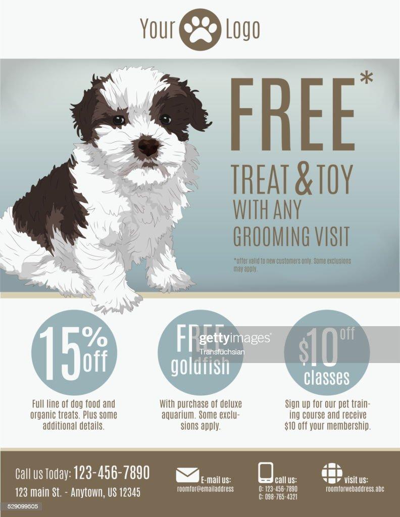 Pet Store flyer template