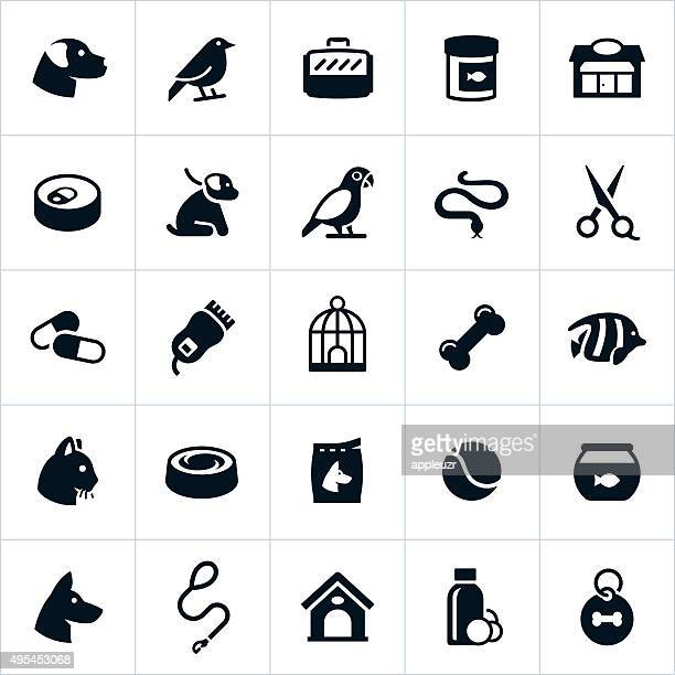 pet store icons - pet equipment stock illustrations, clip art, cartoons, & icons
